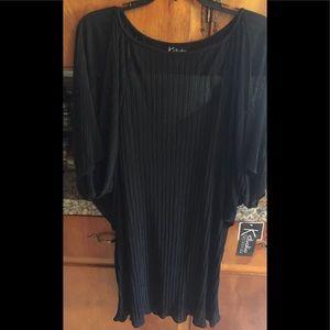 Black sheer dress. Size 14.